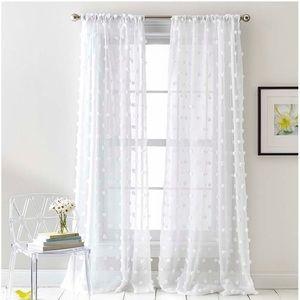 set of 2 dkny ella sheer rod pocket curtain panels
